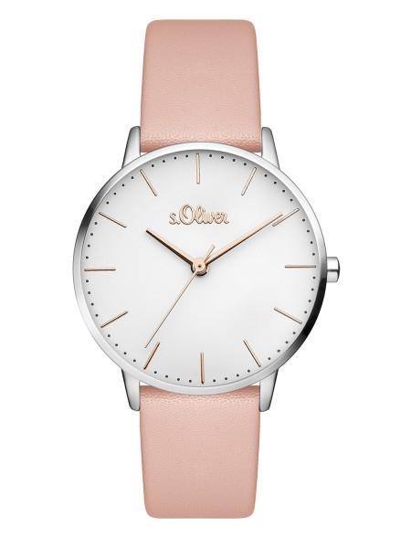 SO-3443-LQ s.Oliver Damen Leder Edelstahl Armbanduhr