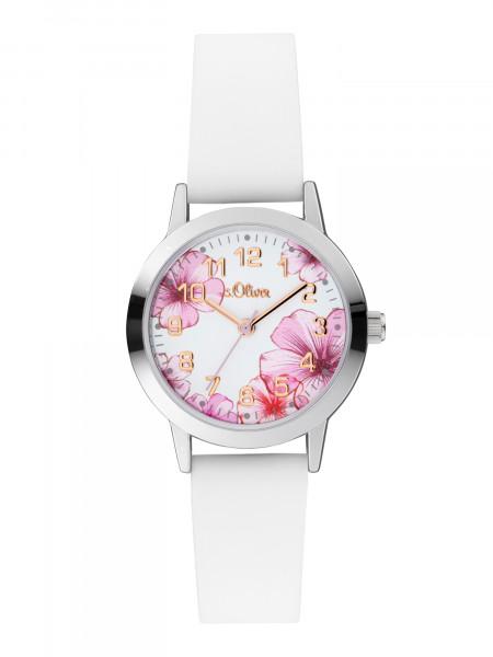 SO-4076-PQ s.Oliver Damen Silikon Armbanduhr