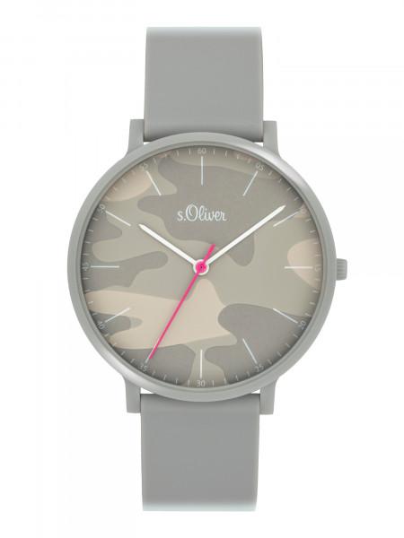 SO-4073-PQ s.Oliver Unisex Silikon Armbanduhr