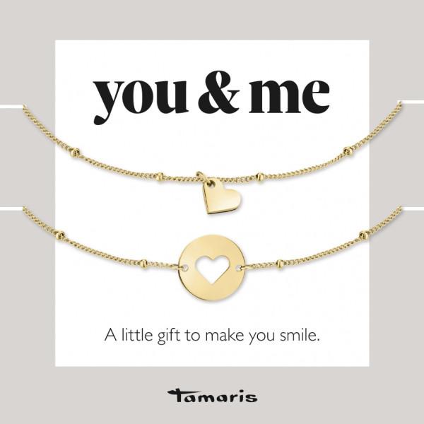 TS-0005-BB Tamaris Armbandset, Edelstahl IP Gold