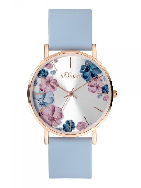 SO-4079-PQ s.Oliver Damen Silikon Armbanduhr