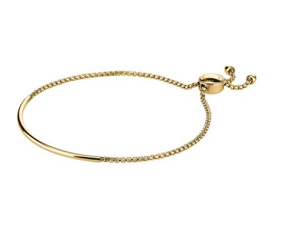 LJ-0102-B-51, Bracelet mit Zugverschluss, Edelstahl, 51 mm Ø, IP Gold