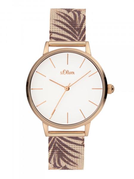 SO-3979-MQ s.Oliver Damen Milanaiseband Armbanduhr