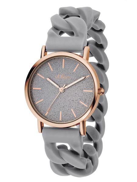 SO-3398-PQ s.Oliver Damen Silikon Armbanduhr