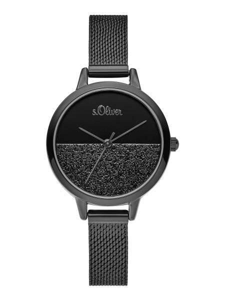 SO-3744-MQ s.Oliver Damen Edelstahl Milanaise-Armbanduhr