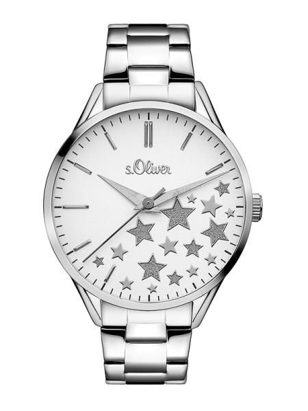 SO-3436-MQ s.Oliver Damen Edelstahl Armbanduhr