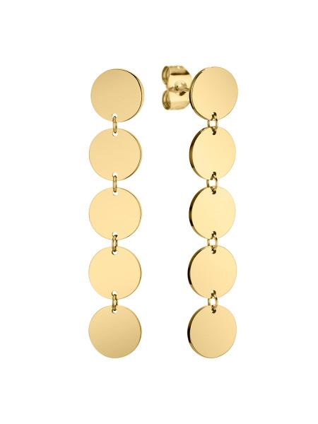 LJ-0385-E-42 Ohrring, Edelstahl, IP Gold