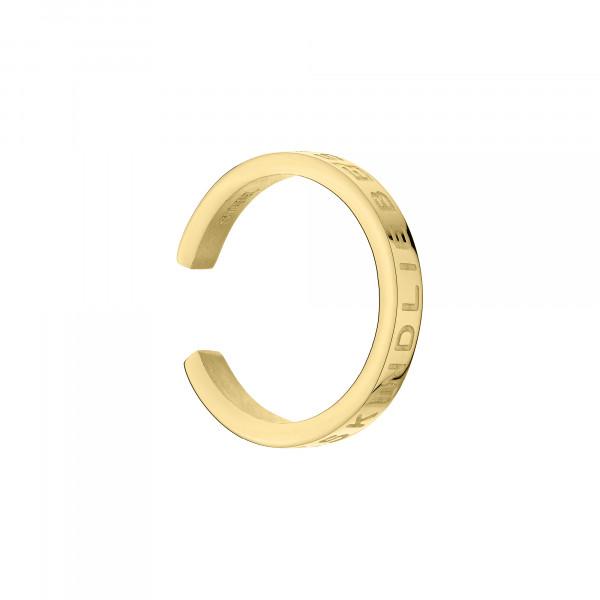 LJ-0793-E-12 LIEBESKIND BERLIN Ear Cuff mit Gravur, Edelstahl IP Gold