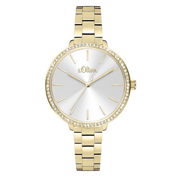 SO-4095-MQ s.Oliver Damen Edelstahlband Armbanduhr