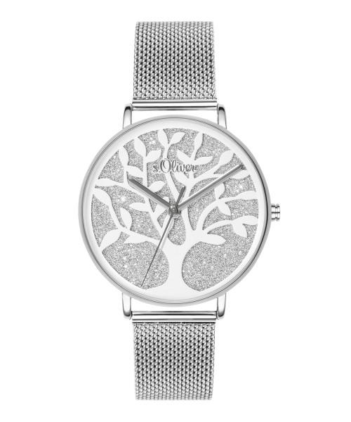 SO-3595-MQ s.Oliver Damen Edelstahl Milanaise Armbanduhr