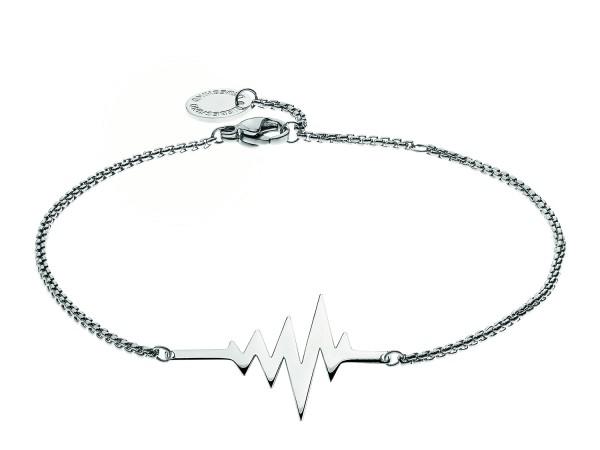 LJ-0155-B-20, Heartbeat Bracelet, Edelstahl, 20 cm