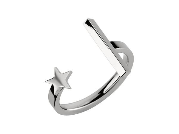 LJ-0140-R-56, Star´n Bar Ring Edelstahl , Weite 56mm