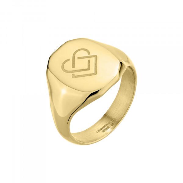 LJ-0711-R-54 LIEBESKIND BERLIN Ring, Edelstahl, IP Gold