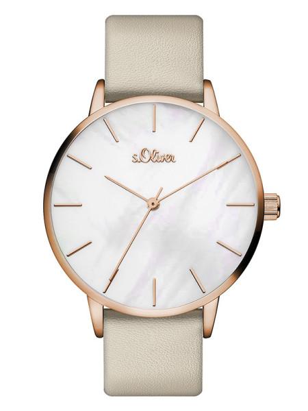 SO-3548-LQ s.Oliver Damen Leder Armbanduhr