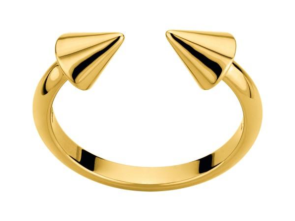 LJ-0110-R-56, Cone Ring, Edelstahl, Größe 56mm, IP Gold