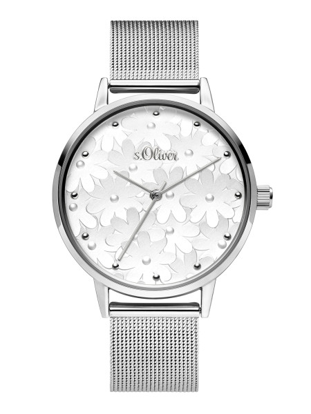 SO-3788-MQ s.Oliver Damen Edelstahl Milanaise Armbanduhr