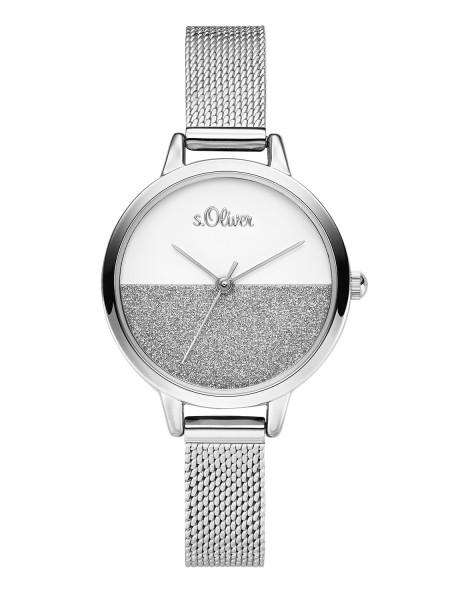 SO-3745-MQ s.Oliver Damen Edelstahl Milanaise-Armbanduhr