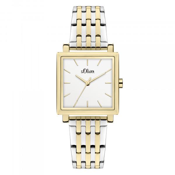 SO-3982-MQ s.Oliver Damen Edelstahlband Armbanduhr