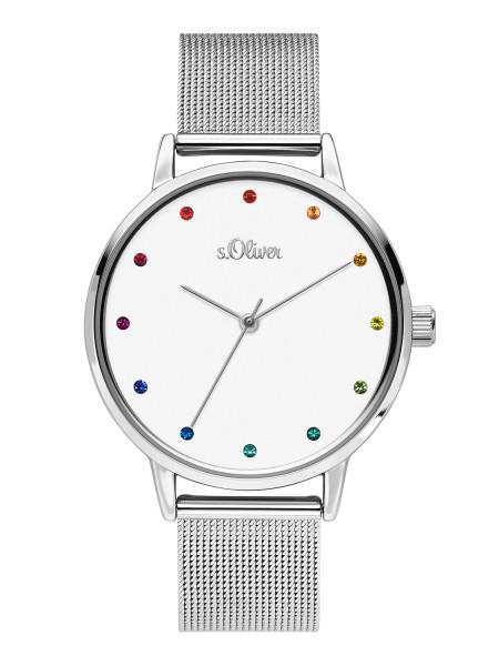 SO-3780-MQ s.Oliver Damen Edelstahl Milanaise Armbanduhr