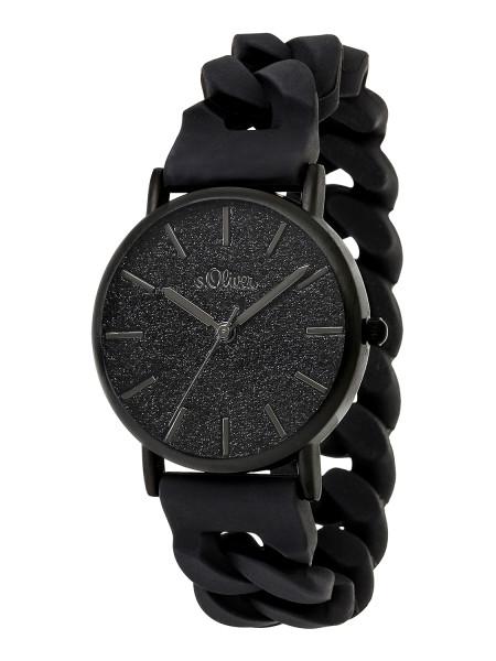 SO-3399-PQ s.Oliver Damen Silikon Armbanduhr