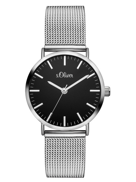 SO-3328-MQ s.Oliver Damen Mesh Armbanduhr