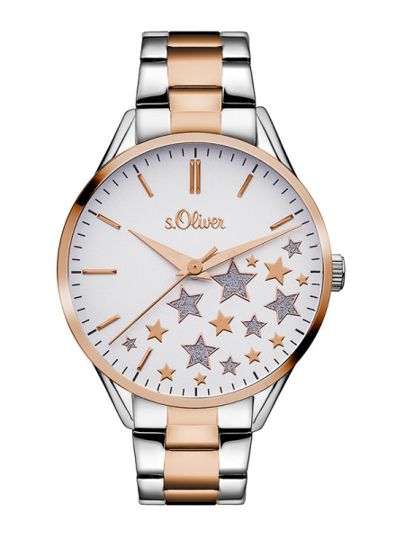 SO-3437-MQ s.Oliver Damen Edelstahl Armbanduhr