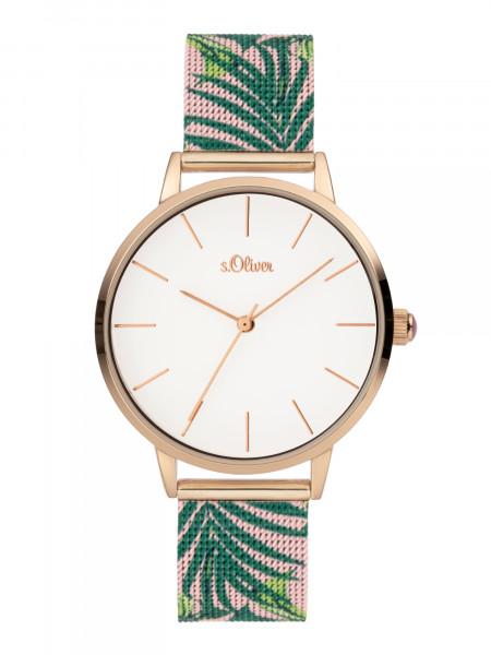 SO-3980-MQ s.Oliver Damen Milanaiseband Armbanduhr