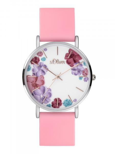 SO-4078-PQ s.Oliver Damen Silikon Armbanduhr