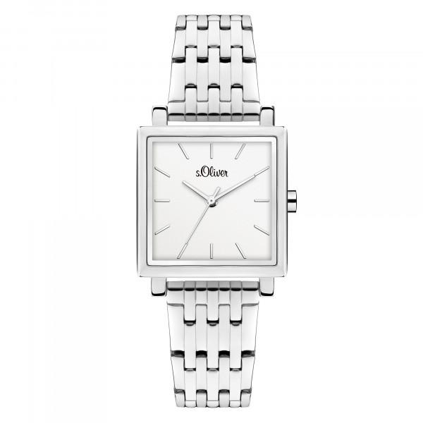 SO-3981-MQ s.Oliver Damen Edelstahlband Armbanduhr
