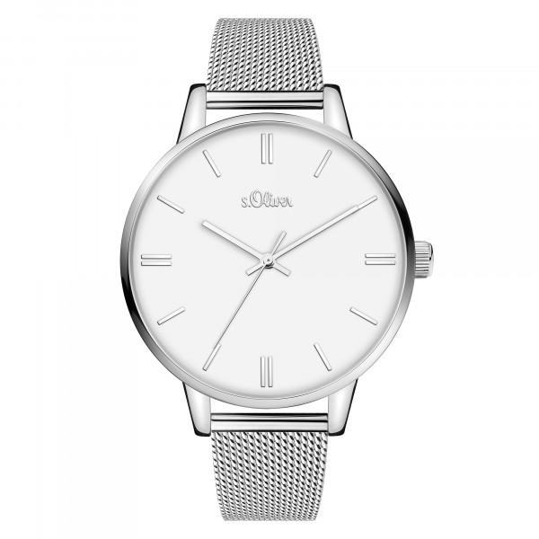 SO-3968-MQ s.Oliver Damen Milanaise Armbanduhr