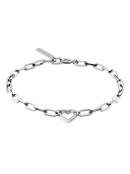 LJ-0343-B-20 Heart Bracelet, Edelstahl,17 cm