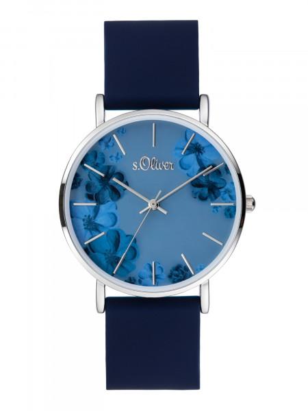 SO-4077-PQ s.Oliver Damen Silikon Armbanduhr