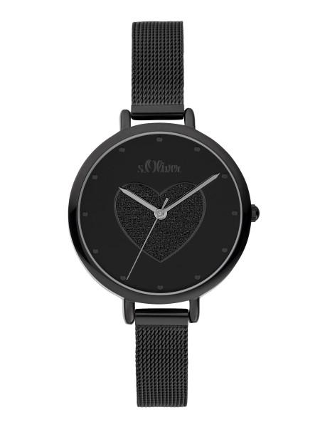 SO-3834-MQ s.Oliver Damen Edelstahl Milanaise Armbanduhr